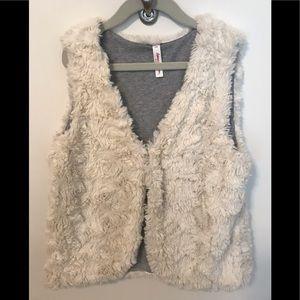 Hanna Andersson Faux Fur Reversible Vest.